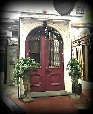Arched Double Entry Door +Jamb 1800's Grand Queen Anne/2nd Emp Mt. Vernon Estate