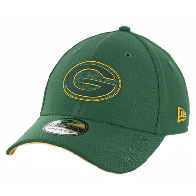 "New Era 3930 Green Bay Packers ""Training"" Onfield 2018 Flexfit Hat (GR) NFL Cap"