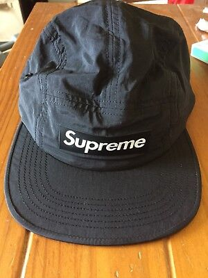 SUPREME RAISED LOGO Patch Camp Cap S M Black SS18 in hand -  78.00 ... c3c4a7317814