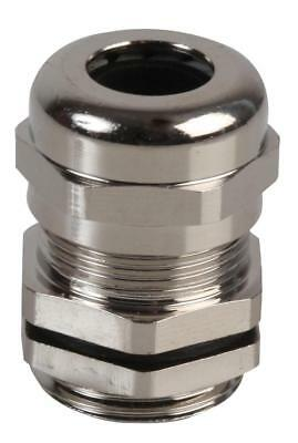 M-MA M20 Brass Nickel Plated Cable Gland 8-12mm Dia, 10 Pack - PRO POWER