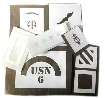 WW2 US Helmet Stencil - USA Infantry Divisions Templates Choice of Many WWII