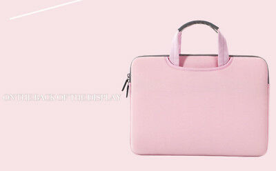 "UK Laptop Sleeve Hand Bag Carry Pouch fit for Lenovo MacBook DELL 14""-15.4"" Pink"