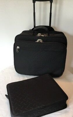 Samsonite Carry On Overnight Bag Luggage Briefcase Rolling Wheeled Laptop