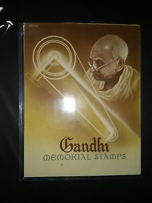 INDIA GANDHI 1948 Memorial Folder - 3 values - $404 99