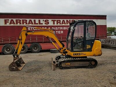 jcb 803 plus 3 ton digger tractor can deliver
