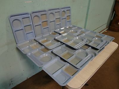 """Lot Of 18 """" Texas Ware """" Heavy Duty Commercial Melamine 5 Compartment Food Trays"""