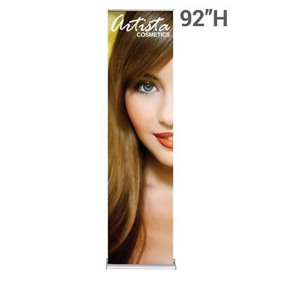 """Silver Step Retractable Banner 24"""" Wide"""