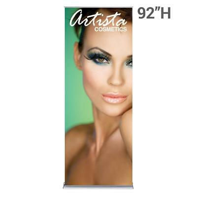 """Silver Step Retractable Banner 36"""" Wide"""