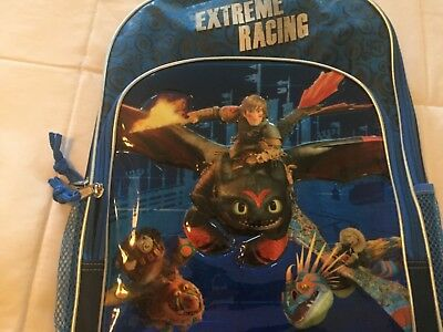 NWT DreamWorks How To Train Your Dragon Backpack Extreme Racing Hiccup