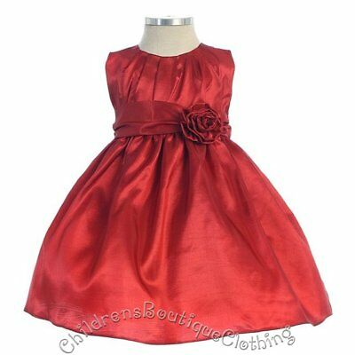 Wholesale Lot of 5 Pieces Baby Red Dress Sizes 9-24 Months-SK-B355-NV