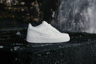 Nike Air Force 1 GS Leather Trainers in White 314192 117 [UK