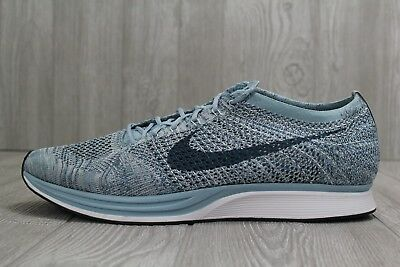 new style 0175b 490b8 30 Nike Flyknit Racer Mens 15 Macaron Pack Blueberry White Shoes 526628-102