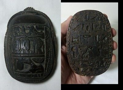 RARE ANCIENT EGYPTIAN ANTIQUE Scarab Carved Stone 1450 -1210 BC Egyptian Antique
