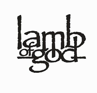 Lamb of God Music Band Vinyl Die Cut Car Decal Sticker - FREE SHIPPING