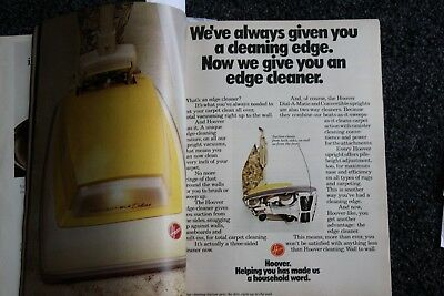 vintage magazine ad advertising  print 1972 HOOVER EDGE CLEANER VACUUM 2 PAGE