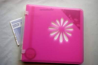 Creative Memories Bloomin' Pink 7x7 Album PRE-DECORATED PAGES & protectors