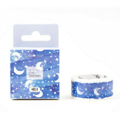 moon star washi tape diy decoration scrapbooking adhesive sticker stationerySC