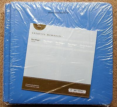 Creative Memories Poolside Blue 8x8 Flex hinge Album / Coverset BNIP