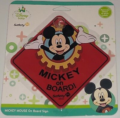 New Disney Baby MICKEY MOUSE Mickey on Board Safety 1st Car Sign