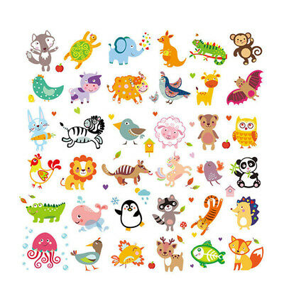 Cute Animals Patches Heat Transfer Iron On Patch Washable Clothes Stickers DIY