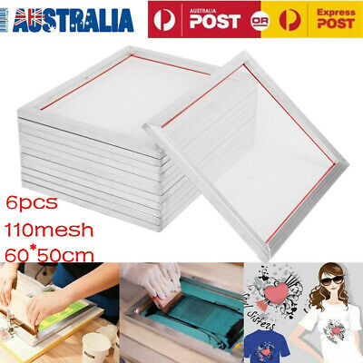 6pcs 50X60cm Screen Printing Aluminium Frame Silk Print 110Mesh 43T Press Screen
