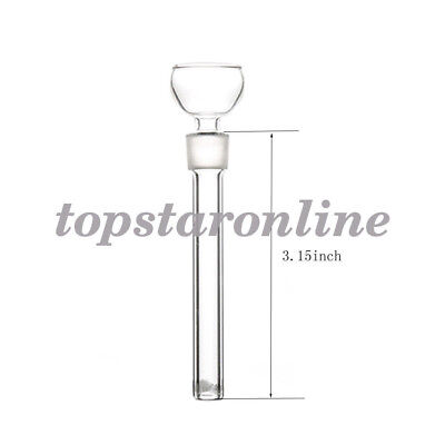 "3.15""Long 14mm Jiont Glass Downstem with Glass Slide Bowl USA FAST FREE SHIPPING"