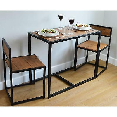 dining table and 2 chairs set small kitchen space saver breakfast
