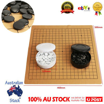 Professional Go Game Weiqi  Bang Mental Suede Leather Board Sheet Play AU Stock