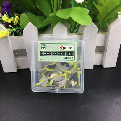 40pcs/Box Dental Wedge Blade Tooth Prep Formation Piece