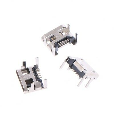 10 Pcs Micro USB Type B 5 Pin Female Socket Connector SMD 4 Legs 90 Degree