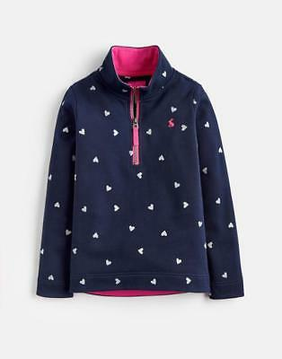 BNWT Jnr JOULES Girls French Navy Heart FAIRDALE Sweatshirt Age 9-10 Years