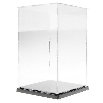 Clear Acrylic Display Case Perspex Plastic Show Box Dustproof (8''-16'' Height)