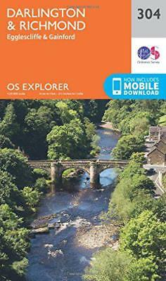 OS Explorer Map (304) Darlington and Richmond by Ordnance Survey | Map Book | 97