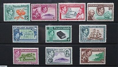 PITCAIRN ISLANDS 1940 KGVI Pictorial Definitives. Set of 10. Mint HINGED. SG1/8.