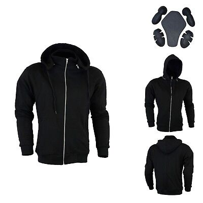 Motorbike Motorcycle Padded Fleece Hoody Hoodie CE Removable Protection Armoured