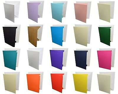 A6 Coloured Greeting Card Blanks & White Envelopes – Choose Colour & Quantity