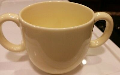 RARE TIFFANY & CO. TIFFANY TOTS CHILDS yellow 2 HANDLED CUP MUG