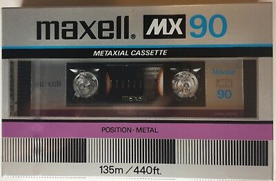 Maxell MX 90 Audio Cassette Tape New from Box Made in Japan 1983-1985 perfect