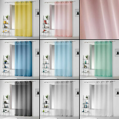 Pointille Striped Eyelet Voile Curtain Panel - Long Drops