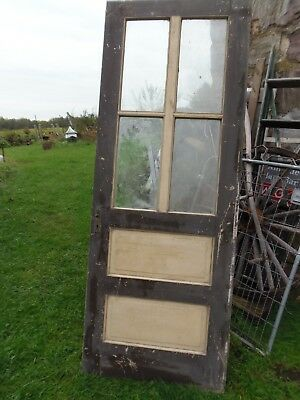 Victorian Exterior Door 4 Pane Glass Raised Panel