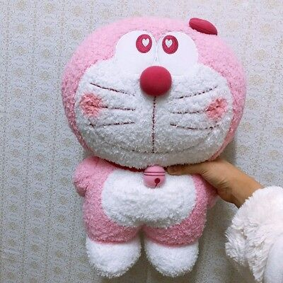 New Pink Doraemon with heart plush Toy 40CM Gift Japan