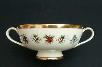 1970's Minton Mirabeau S747 Pattern 2-Handle Soup or Dessert Bowls 15cmw in VGC
