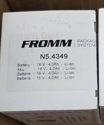 NEW 18V battery for Fromm P327 N5.4349 strapping tool Signode 4.0 P-329 P-326