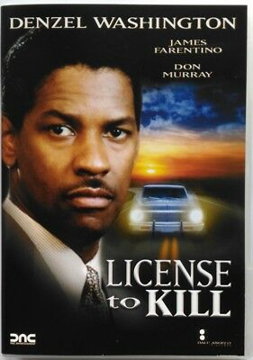 Dvd License to kill con Denzel Washington 1984 Usato