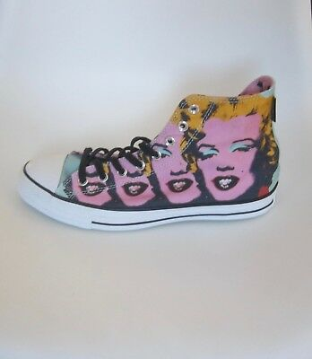 be88670d219dc9 CONVERSE HIGH TOP Andy Warhol Marilyn Monroe Sneakers Size M9 W11 NEW W Box  -  42.00