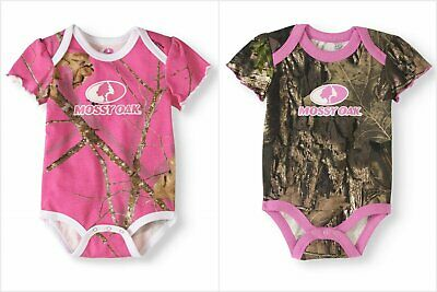 SIZE NB 12M 18M 24M Baby Boys//Girls 2-pack Camo RealTree or Mossy Oak Bodysuits