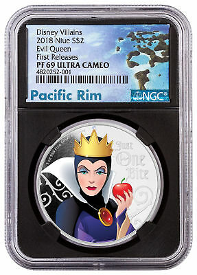 2018 Niue Disney Villains - Evil Queen 1 oz Silver NGC PF69 UC FR Black SKU53806