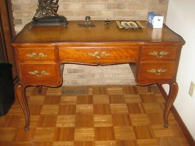French Provincial Leather top Desk by John Stuart