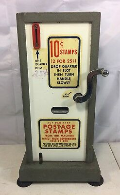 Vtg Postage Stamp Machine Co. 10 Cent 25 stamp machine vending Brooklyn NY