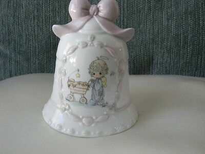 PRECIOUS MOMENTS bell- Christmas Bell - So pretty !  Great Condition!